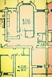 Трехкомнатная квартира в новом доме 27400$